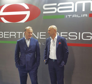 Aldo Cingolani, CEO Bertone Design, with Andrea Spinelli, CEO Sammi Export