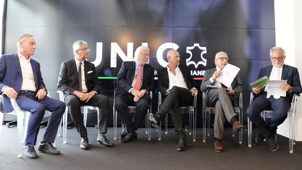 A moment from the round table: from left to right, Valter Peretti, Piero Rosati, Rino Mastrotto, Alessandro Iliprandi, Gianni Russo and Graziano Balducci